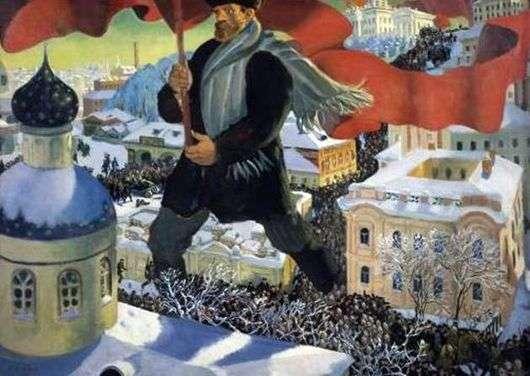Описание картины Бориса Кустодиева «Большевик»