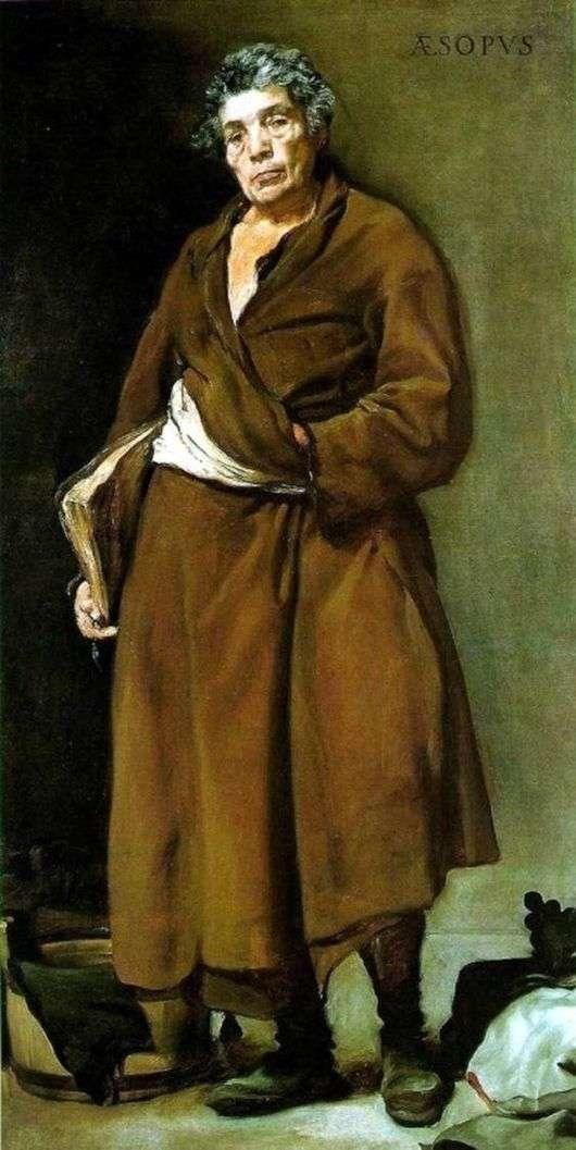Описание картины Диего Веласкеса «Эзоп»