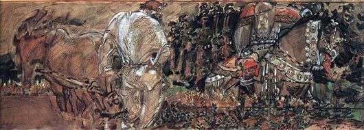 Описание картины Михаила Врубеля «Микула Селянинович»