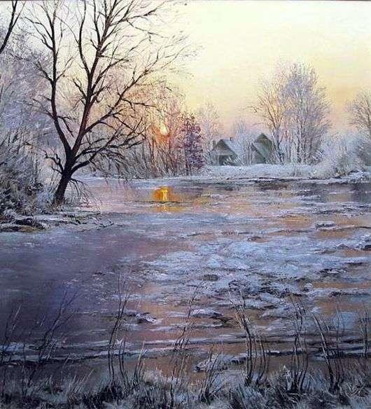 Описание картины Александра Попова «Лед»