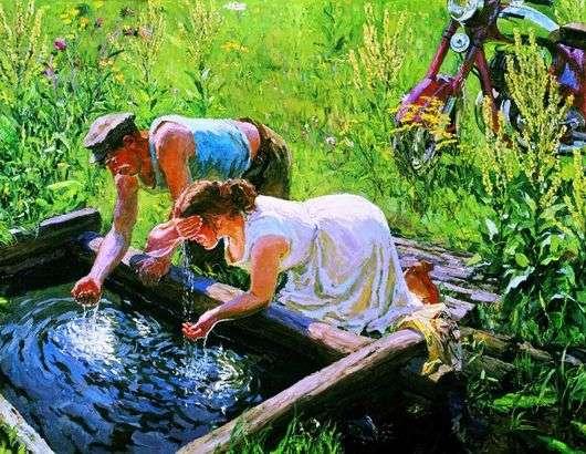 Описание картины Аркадия Пластова «Родник» (Полдень)