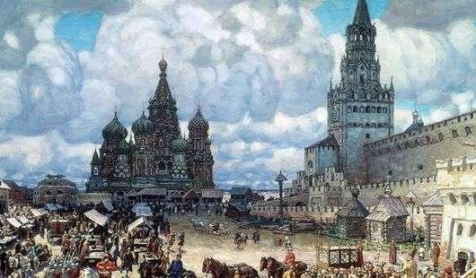 Описание картины Виктора Васнецова «Красная площадь»