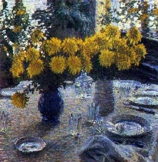 Описание картины Игоря Грабаря «Хризантемы»