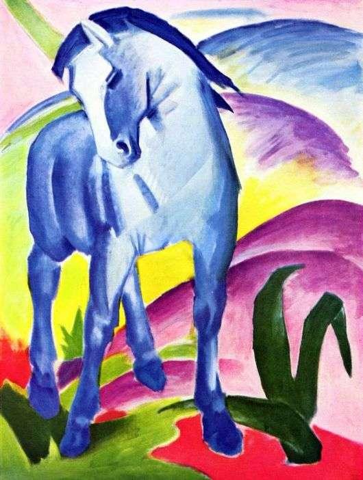 Описание картины Франца Марка «Синий конь»