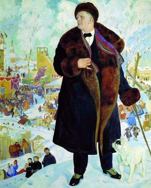 Описание картины Бориса Кустодиева «Портрет Шаляпина»