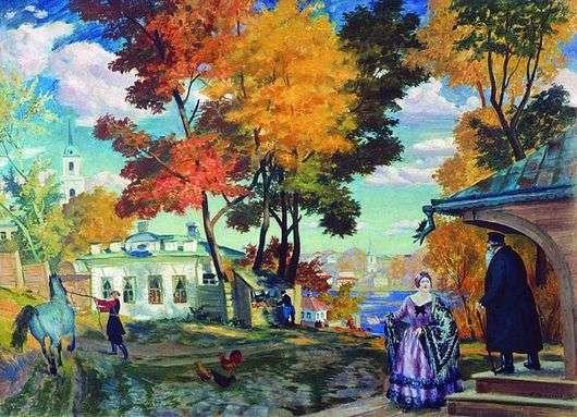Описание картины Бориса Кустодиева «Осень»