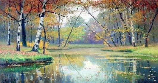 Описание картины Ефима Волкова «Осенний пейзаж»