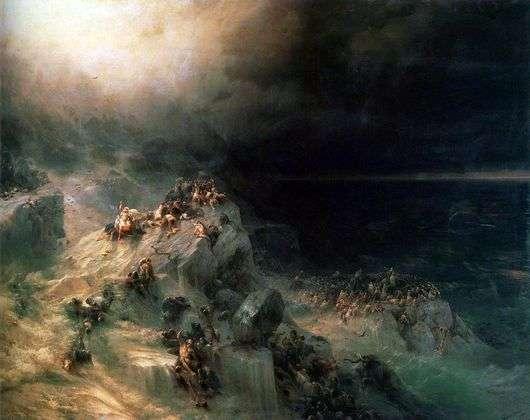 Описание картины Ивана Айвазовского «Всемирный потоп»