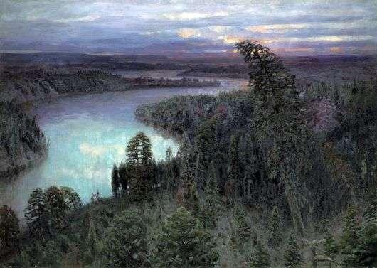 Описание картины Аполлинария Васнецова «Северный край»