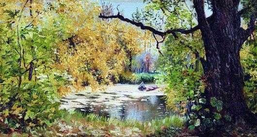 Описание картины Ильи Остроухова «Осенний пейзаж»