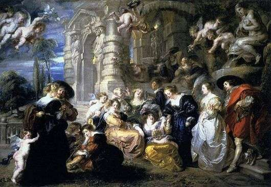 Описание картины Питера Рубенса «Сад любви»