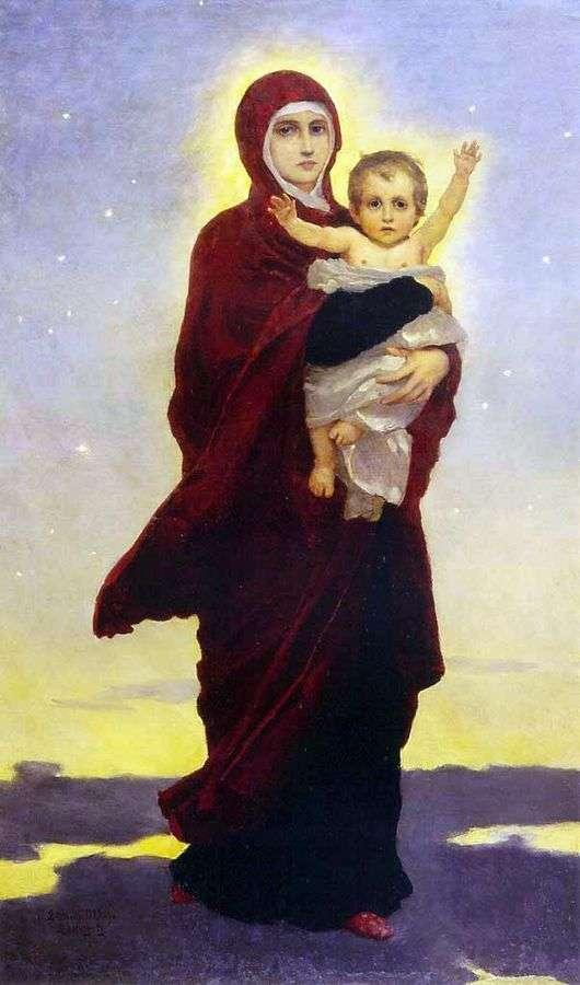Описание картины Виктора Васнецова «Богоматерь с младенцем»