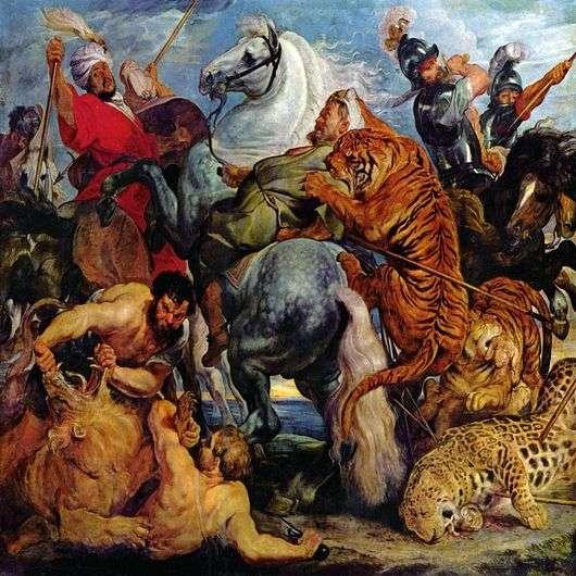 Описание картины Рубенса «Охота на тигров и львов»