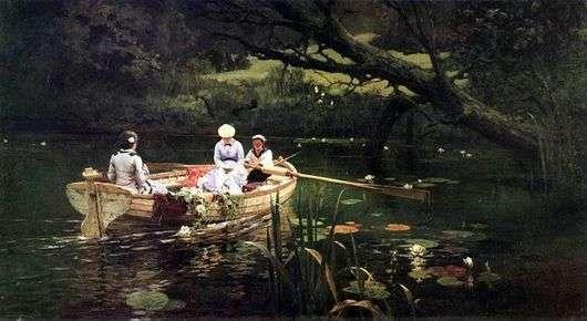 Описание картины Василия Поленова «На лодке. Абрамцево»