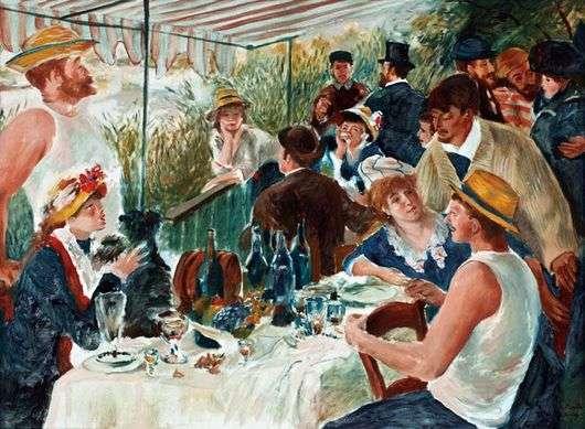 Описание картины Пьера Ренуара «Завтрак гребцов»