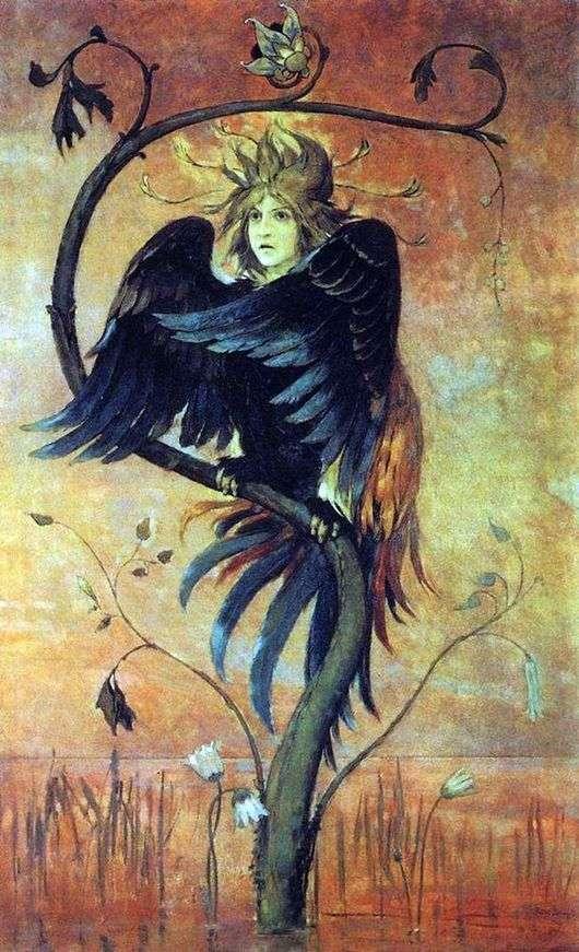 Описание картины Виктора Васнецова «Гамаюн, птица вещая»