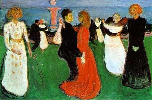 Описание картины Эдварда Мунка «Танец жизни»