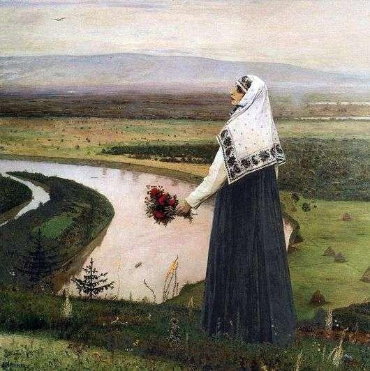 Описание картины Михаила Нестерова «На горах»