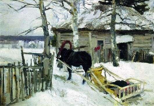 Описание картины Константина Коровина «Зимой»