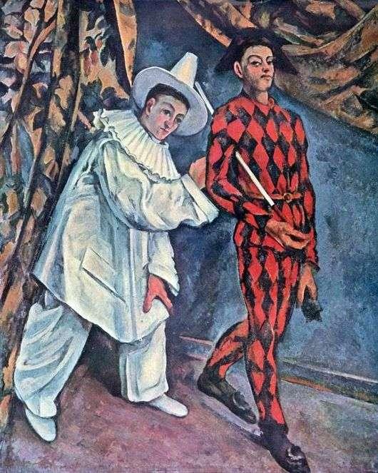 Описание картины Поля Сезанна «Пьеро и Арлекин»