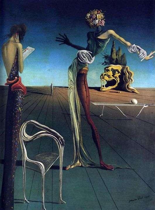 Описание картины Сальвадора Дали «Женщина с головой из роз»