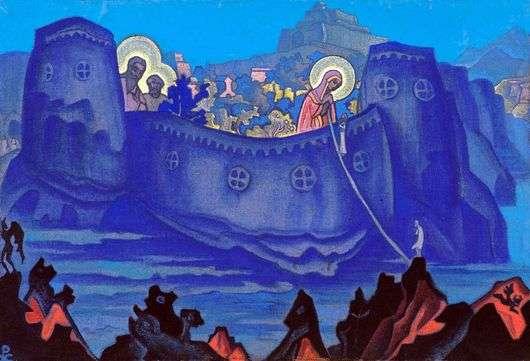 Описание картины Николая Рериха «Труды Богоматери»