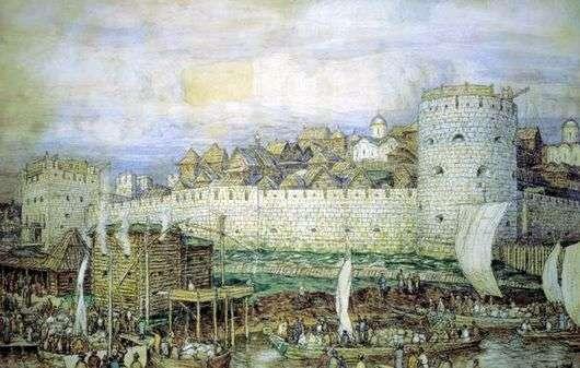 Описание картины Виктора Васнецова «В Московском Кремле»