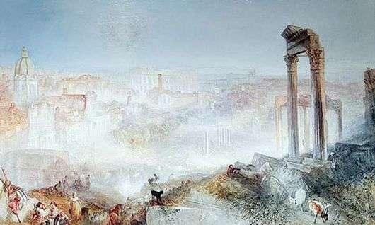 Описание картины Уильяма Тернера «Современный Рим. Кампо Ваччино»