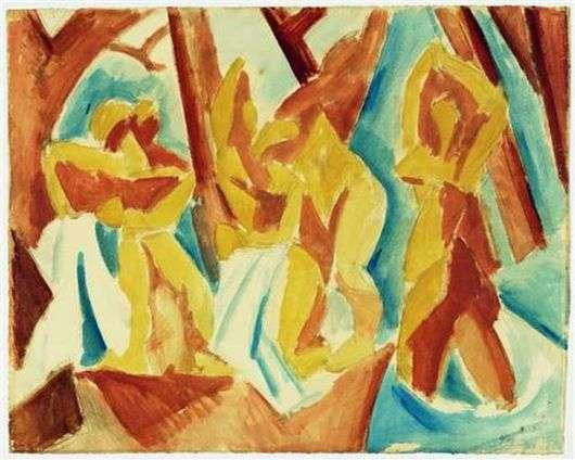 Описание картины Пабло Пикассо «Купальщицы»