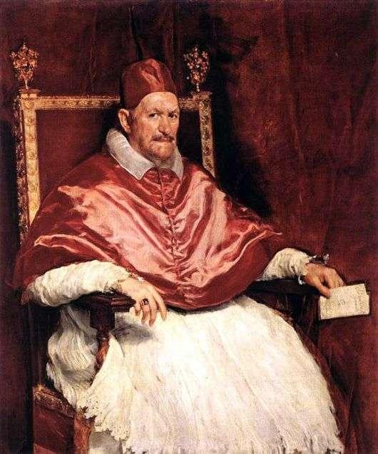 Описание картины Диего Веласкеса «Папа Иннокентий»