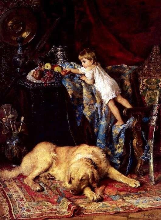 Описание картины Константина Маковского «В мастерской художника»