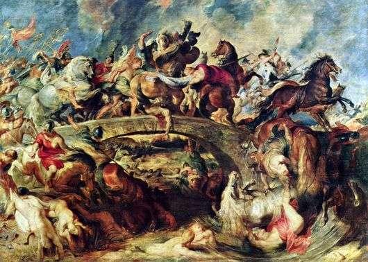 Описание картины Питера Рубенса «Битва с амазонками»