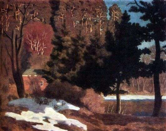 Описание картины Николая Крымова «Первый снег»