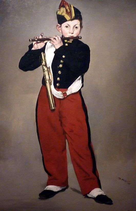 Описание картины Эдуарда Мане «Флейтист»