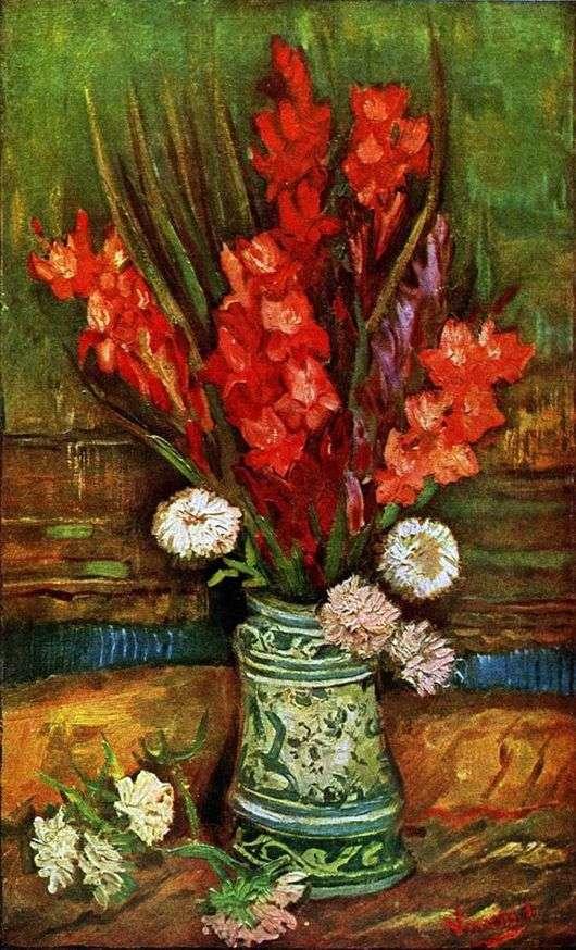 Описание картины Винсента Ван Гога «Натюрморт с гладиолусами»
