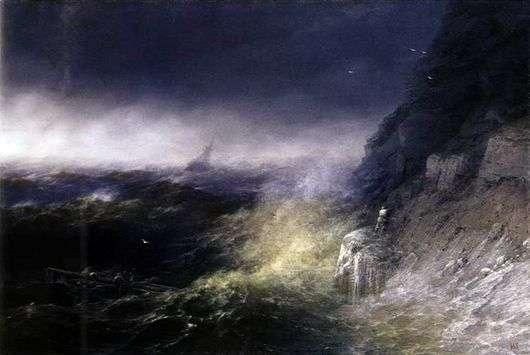 Описание картины Ивана Айвазовского «Буря на черном море»