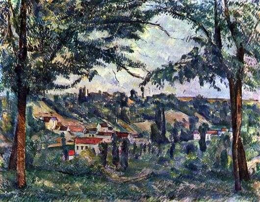 Описание картины Поля Сезанна «Пейзаж»