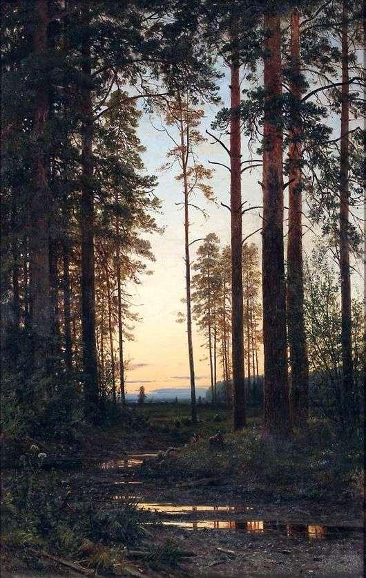 Описание картины Ивана Шишкина «Сумерки»