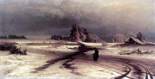 Описание картины Федора Васильева «Оттепель»