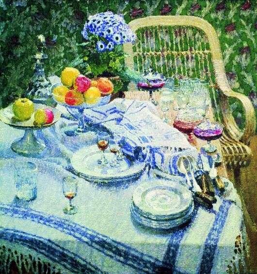 Описание картины Игоря Грабаря «Неприбранный стол»