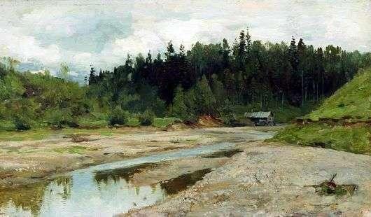 Описание картины Исаака Левитана «Речка в лесу»