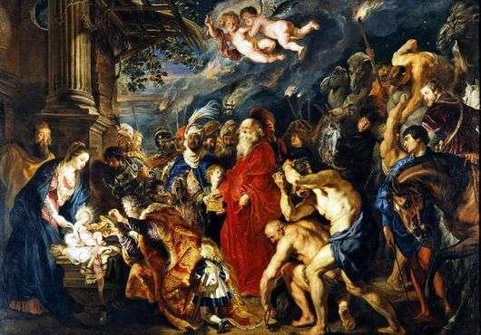 Описание картины Питера Рубенса «Поклонение волхвов»