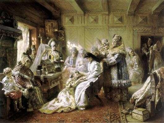 Описание картины Константина Маковского «Под венец»