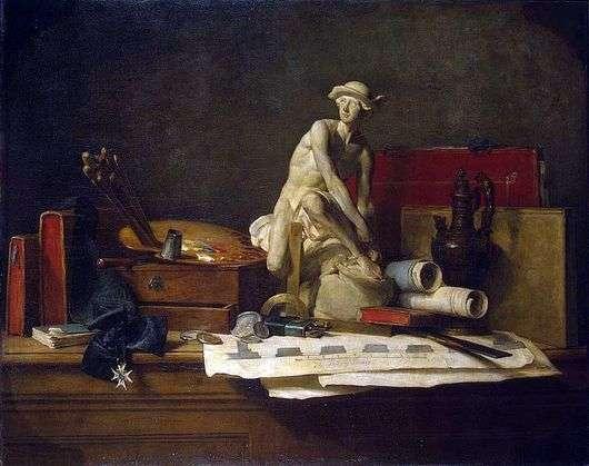 Описание картины Жан Батиста Шардена «Атрибуты искусства»