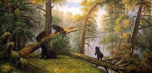 Описание картины Ивана Шишкина «Утро в сосновом лесу»