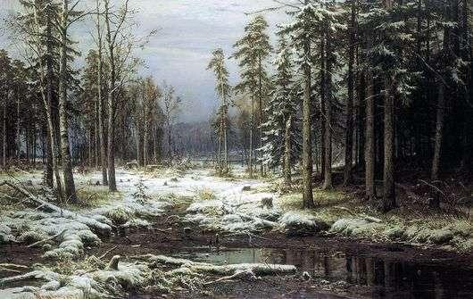 Описание картины Ивана Шишкина «Первый снег»