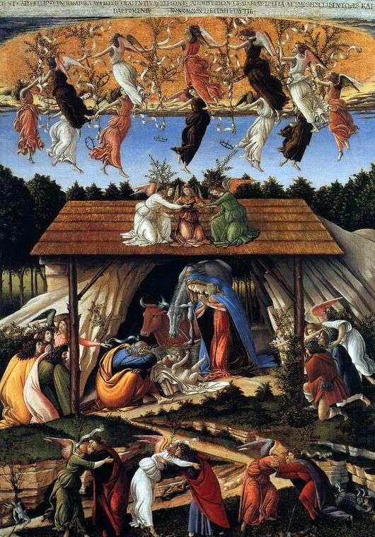 Описание картины Сандро Боттичелли «Мистическое Рождество»