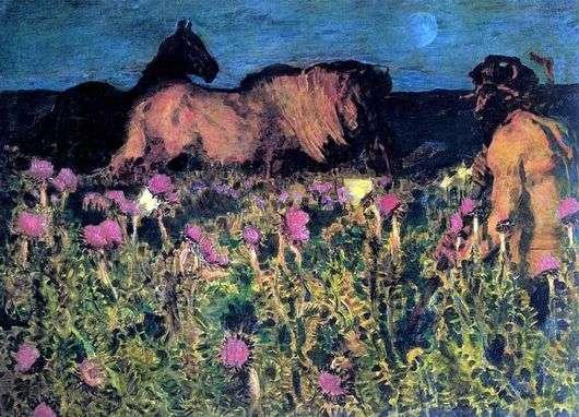Описание картины Михаила Врубеля «К ночи»