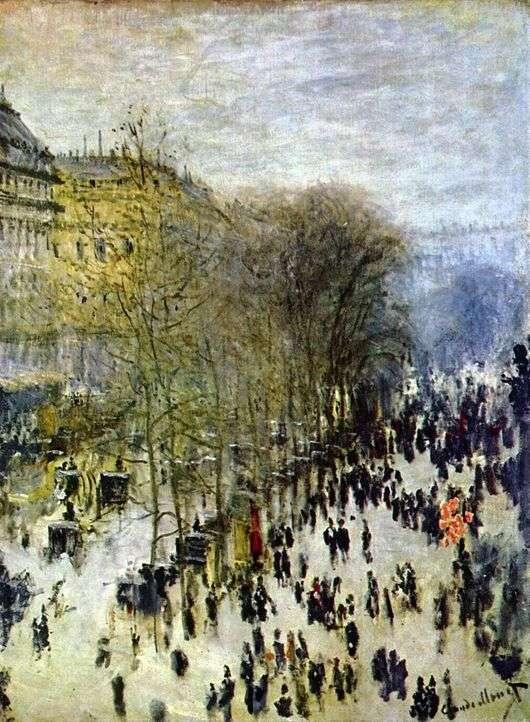 Описание картины Клода Моне «Бульвар Капуцинок в Париже»