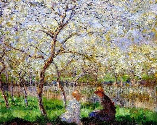 Описание картины Клода Моне «Весна»